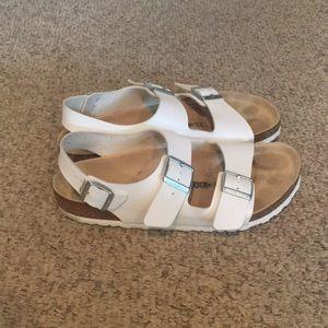 Birkenstock White strappy Ankle strap sandals 10